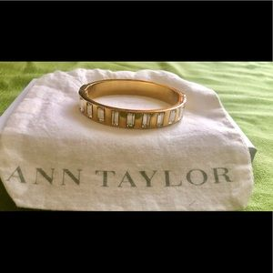 Ann Taylor gold and diamond(faux) bracelet